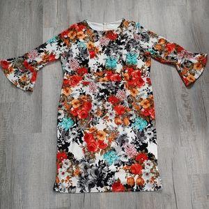 Kari Lyn | floral print dress